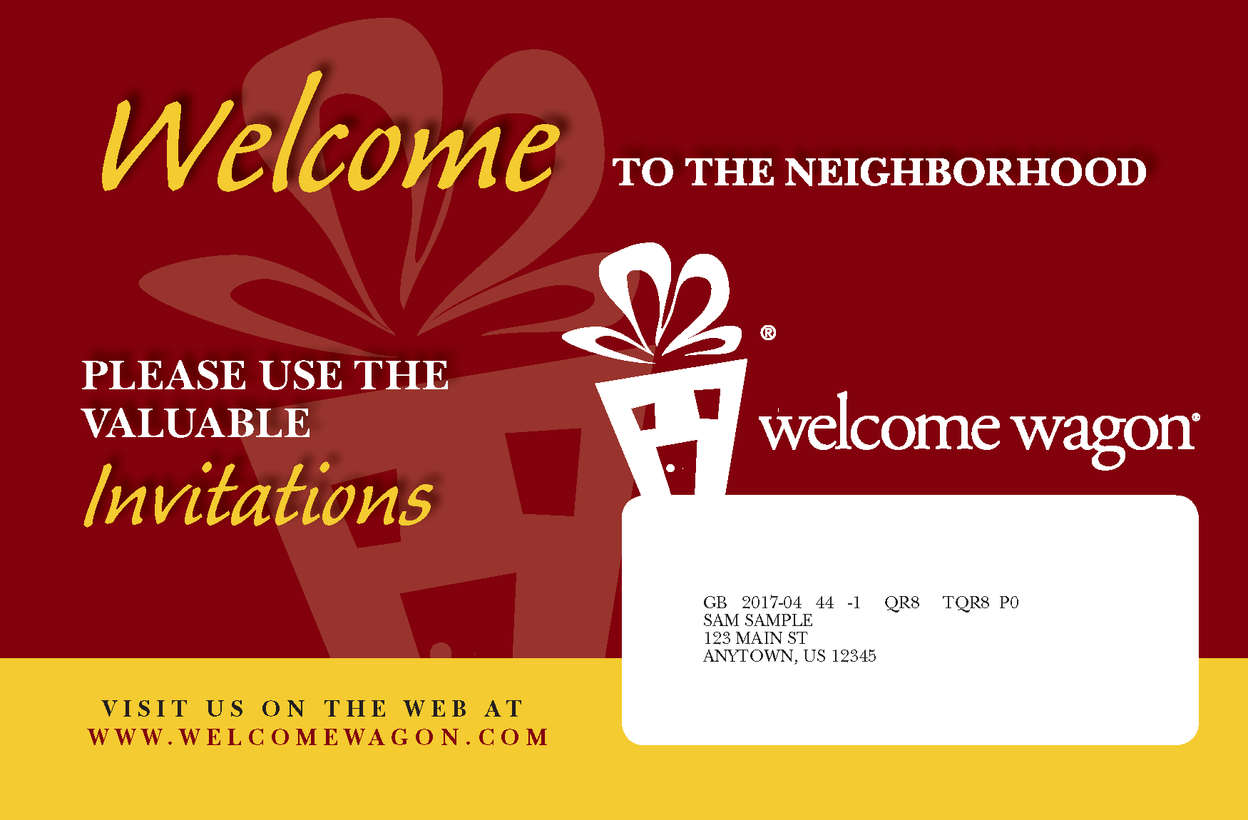 Welcome Wagon Mail Piece